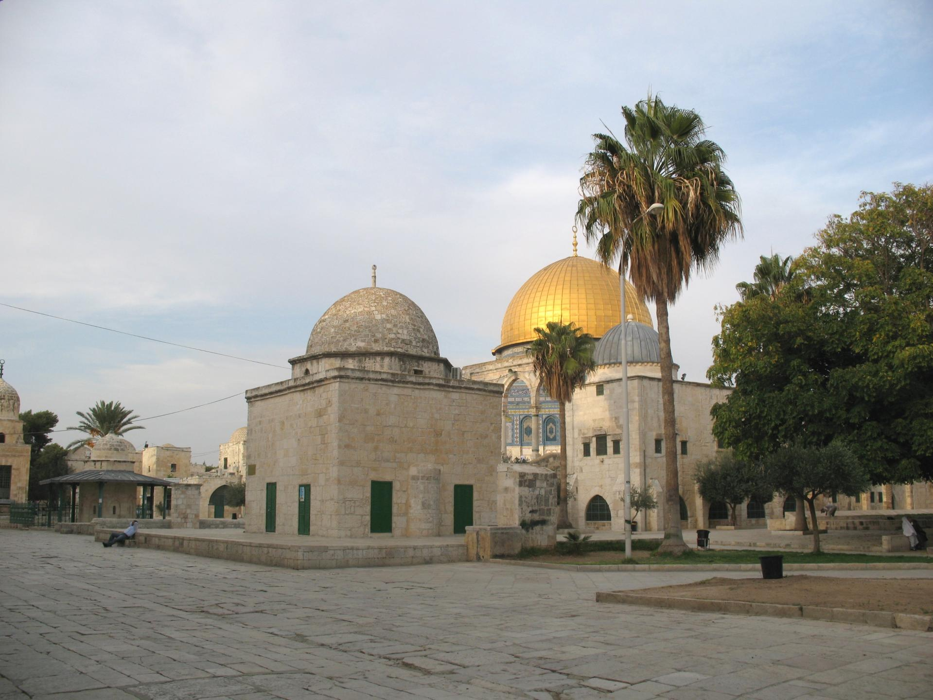 Old city and alaqsa mosque in jerusalem palestine